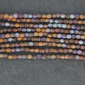 Fire Polished faceted round beads 4mm Glittery Mat Bronze x50