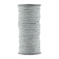 Bobbin of 20 meters of twined string by House Doctor 2 mm Smoke Grey Silver