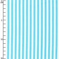 Striped Cotton Fabric - Turquoise/White x10cm