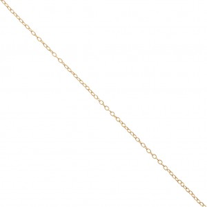 Thin Oval Mesh convict Chain 1.4 mm Golden x1m