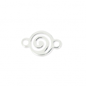 Spiral Spacer 2 Rings 11x7 mm Silver x1