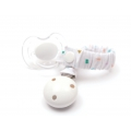 Soother holder removable clip 50mm White x1