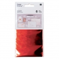 Set of 6 metalized Tansfer Foils by Paper Poetry Red