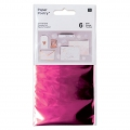 Set of 6 metalized Tansfer Foils by Paper Poetry Fuchsia