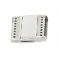 Magnetic Clasp for Bead Weaving 23.5 x 19.5 mm Antique Silver x1