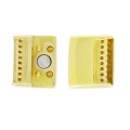 Magnetic Clasp for Bead Weaving 23.5 x 19.5 mm Golden x1