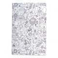Set by Paper Poetry Notebook 145x210 mm Colouring activity Monsters x2