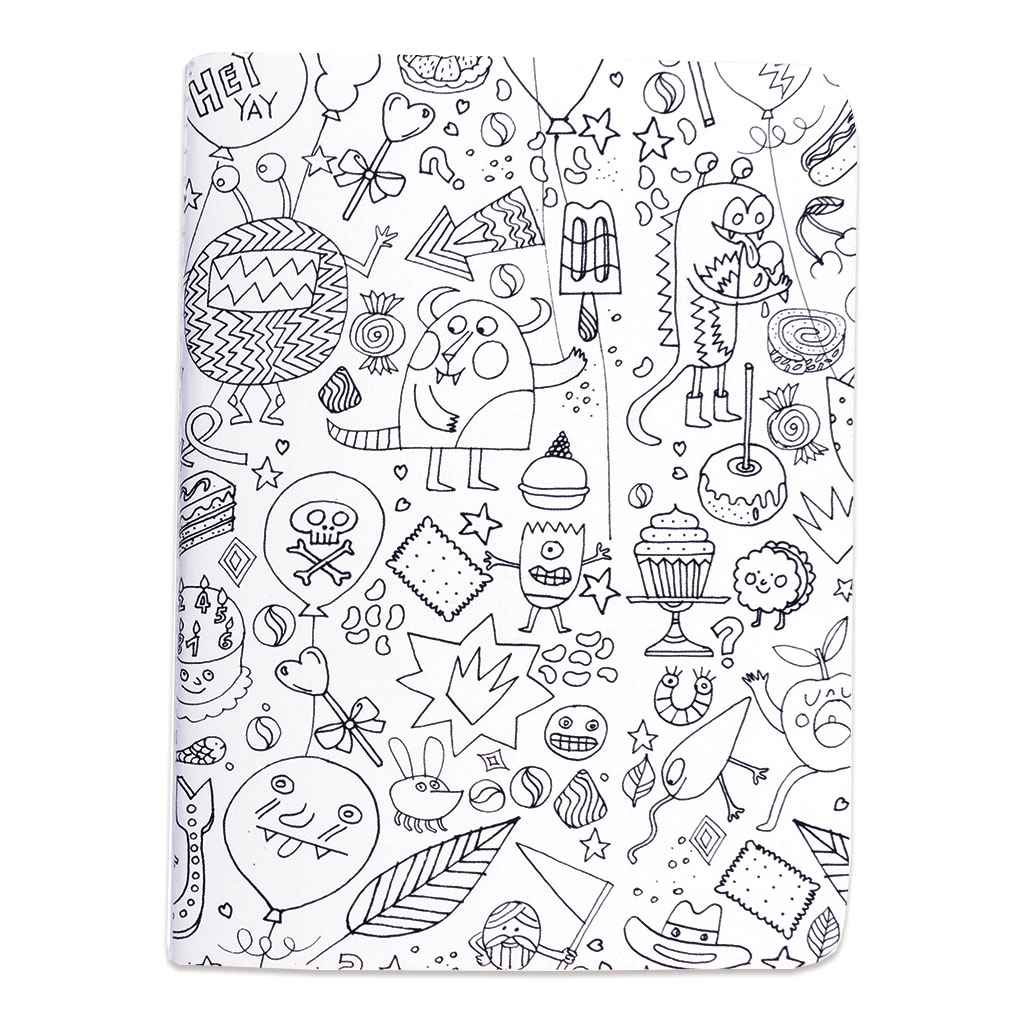 Set by Paper Poetry Notebook 105x140mm Colouring activity Monsters ...