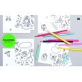 Set of adhesive tape to color-in Colouring activity Monsters/Insects -5x10