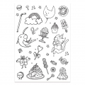 Color-in Stickers Colouring activity Monsters and Insects Pattern x132