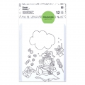Set of cards and envelopes A6 Colouring activity Childish Patterns x12