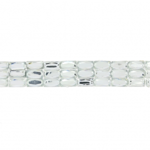Stick Rhinestones Ribbon 3 rows to iron-on 15 mm Crystal x50cm
