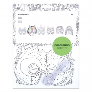 Set of 6 Masks for children Colouring activity