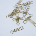 15 Office Paperclips by House Doctor, the tidying 65mm Brass Arrow