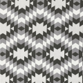 Nordic Cotton Fabric - Scandinavian Style - Aztec in Carbon x10cm