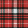 Cotton Mammoth Checkered Flannel Fabric - Scarlet Plaid x10cm