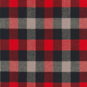 Cotton Mammoth Checkered Flannel Fabric - Red x10cm