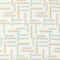 Cotton Childish Fabric Rumble - Dotted Stripe Yellow/Mint/Lilac x10cm
