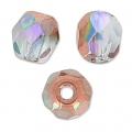Fire Polished faceted round beads 4mm Crystal Copper Rainbow x50