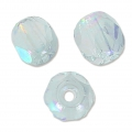 Fire Polished faceted round beads 4mm Crystal Blue Rainbow x50