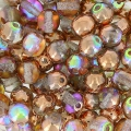 Round beads 4mm Crystal Copper Rainbow x50