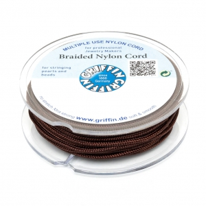 Griffin European Braided Nylon Thread 0.5 mm Dark Brown x25m
