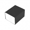 Gift box for ring 5x4.3x3 cm cm White/Matt Black x1