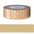 Adhesive Tape - by Paper Poetry 15mm Chevron Light Coral Golden x10m