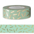 Adhesive Tape - by Paper Poetry 15mm Confetti Mint Golden x10m