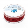 Griffin European Braided Nylon Thread 1 mm Garnet x25m