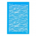 Silk Screen Moiko 74x105 mm - Waves Pattern 8.04