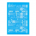 Silk Screen Moiko 74x105 mm - Aztec Shapes Pattern 7.27
