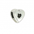 Heart slider for 3 mm Lace Antique Silver x1