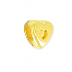 Heart slider for 3 mm Lace 3 mm Golden x1
