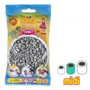 Beads to iron on Hama MIDI 5 mm Grey (n°17) x1000