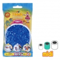 Beads to iron on Hama MIDI 5 mm Transparent Blue (n°15) x1000