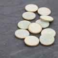 Round Ceramic Cabochon Crackled Finish 20 mm Light Grey x1