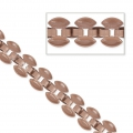 3 Rows Chain Pavement Pattern 8 mm Vintage Pink x 50cm