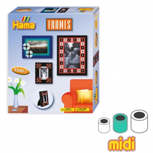 Frame Kit with Hama MIDI 5 mm beads for Children
