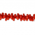 Pearl cord 5mm Red x1m