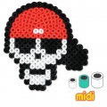 Pirates and Skull Head Kit with Hama MIDI 5 mm beads for Children