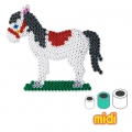 Horse and little Dog Kit with Hama MIDI 5 mm beads for Children