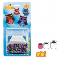 Owls Kit with Hama MINI 2.5 mm beads for children