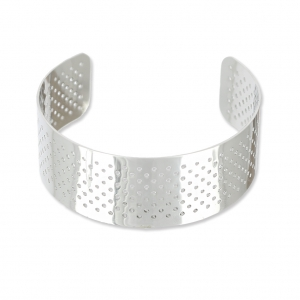 Cuff bracelet to weave 24 mm in Stainless Steel x1