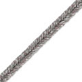 Metallic Braid Made in Italy 2 mm Greige/Silver x1m