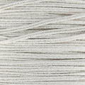 Metallic Braid Made in Italy 2 mm Silver/Silver x1m