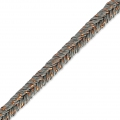 Metallic Braid Made in Italy 2 mm Brown/Copper x1m