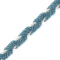 Shay Metal Velvet Braid Made in Italy 4 mm Blue Jean/Silver x1m