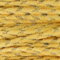 Shay Metal Velvet Braid Made in Italy 4 mm Light Yellow/Golden x1m