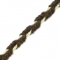 Shay Metal Velvet Braid Made in Italy 4 mm Brown/Golden x1m